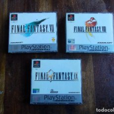 Videojuegos y Consolas: JUEGOS PS1 FINAL FANTASY VII, FINAL FANTASY VIII Y FINAL FANTASY IX COMPLETOS. Lote 117302015