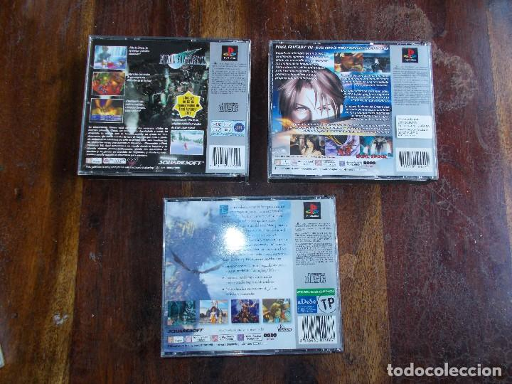 Videojuegos y Consolas: JUEGOS PS1 FINAL FANTASY VII, FINAL FANTASY VIII Y FINAL FANTASY IX COMPLETOS - Foto 2 - 117302015