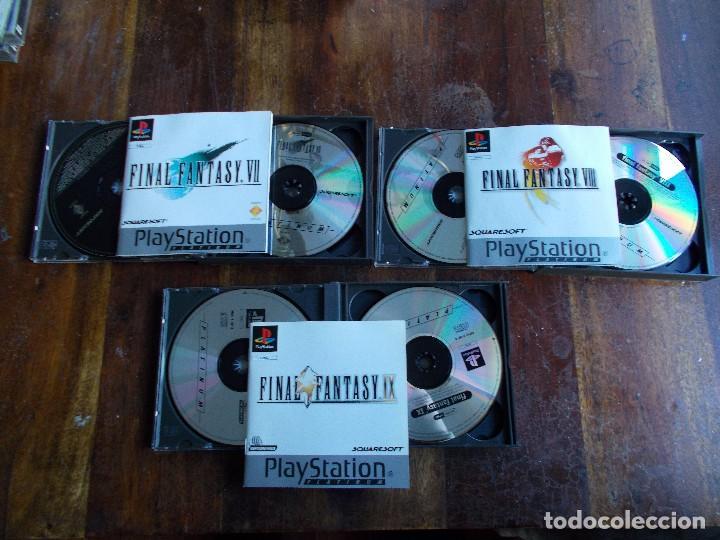 Videojuegos y Consolas: JUEGOS PS1 FINAL FANTASY VII, FINAL FANTASY VIII Y FINAL FANTASY IX COMPLETOS - Foto 3 - 117302015