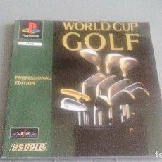 Videojuegos y Consolas: WORLD CUP GOLF PROFESSIONAL EDITION - PLAYSTATION ONE - PSONE - PS1 - MANUAL ESPAÑOL. Lote 119602391