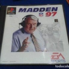 Videojuegos y Consolas: PLAYSTATION JUEGO PARA ( PS1. PSX ) MADDEN NFL 97 EM SPORTS 1996 COMPLETO . Lote 120558743