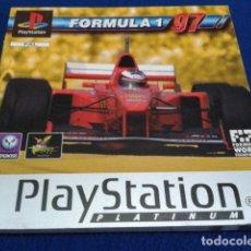 Videojuegos y Consolas: SONY PLAYSTATION SOLO MANUAL INSTRUCCIONES PARA PS1. PSX ( FORMULA 1 - 97 ) 1997 PLATINUM 140 PAG . Lote 120565047
