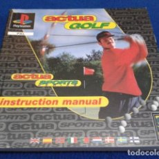 Videojuegos y Consolas: SONY PLAYSTATION SOLO MANUAL INSTRUCCIONES PARA PS1. PSX ( ACTUA GOLF ) 1996 PAGINAS 200 . Lote 120566031