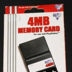 Videojuegos y Consolas: MEMORY CARD PLAYSTATION 1 PSX 4 MB BLAZE COLOR NEGRO. Lote 123083627