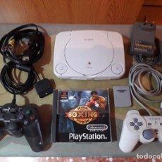 Videojuegos y Consolas: 08-00234 PSONE+2 MANDOS+CABLES+MEMORICARD+JUEGO BOXEO. Lote 146228189