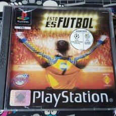 Videojuegos y Consolas: ESTO ES FUTBOL PLAYSTATION 1 LEER ANTES DE COMPRAR. Lote 130170758
