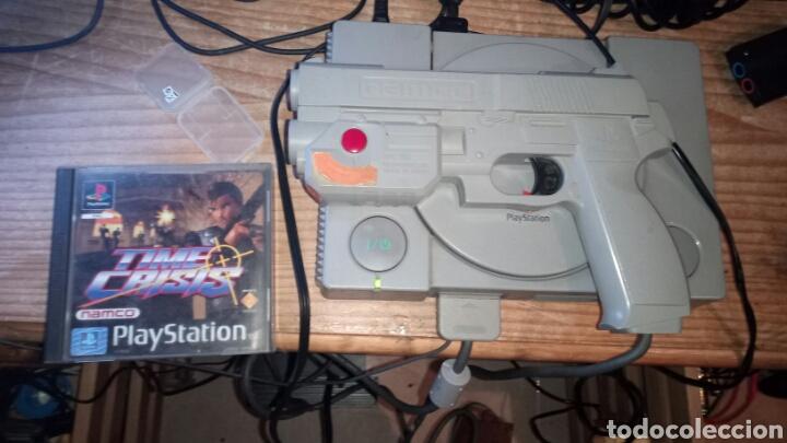 TIME CRISIS +PISTOLA NAMCO LEER (Juguetes - Videojuegos y Consolas - Sony - PS1)