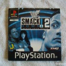 Videojuegos y Consolas: WWF SMACKDOWN! 2: KNOW YOUR ROLE MANUAL DE INSTRUCCIONES PS1 SONY PLAYSTATION PSX. Lote 131432706