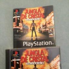 Videojuegos y Consolas: JUEGO DE PLAYSTATION 1 JUNGLA DE CRISTAL TRILOGÍA 2 CON MANUALES. Lote 131689913