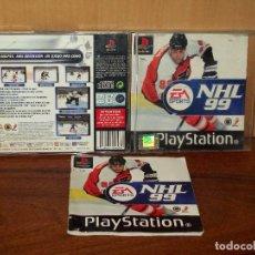 Videojuegos y Consolas: NHL 99 - PLAYSTATION 1 CON MANUAL DE INSTRUCCIONES . Lote 132071822