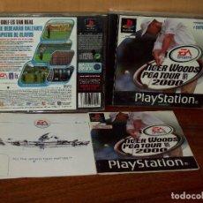Videojuegos y Consolas: TIGER WOODS PGA TOUR 2000 - PLAYSTATION 1 CON MANUAL DE INSTRUCCIONES . Lote 132073218
