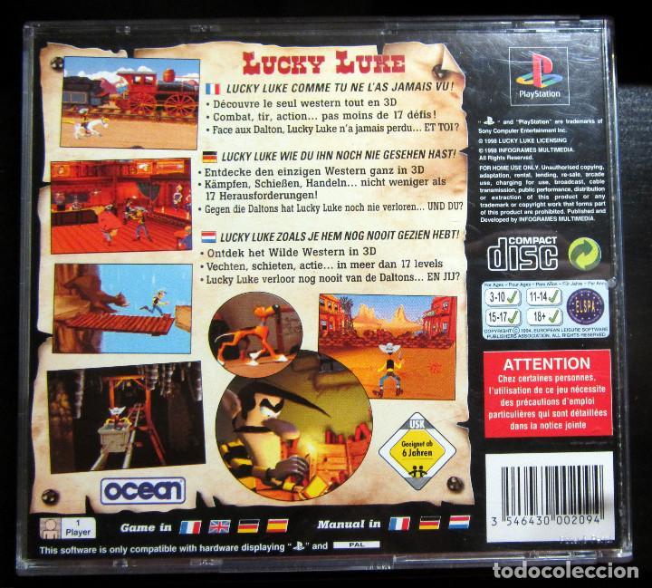 Videojuegos y Consolas: JUEGO PS1 LUCKY LUKE PAL PLAY STATION 1998 - Foto 2 - 132249146