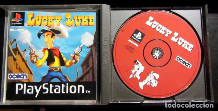 Videojuegos y Consolas: JUEGO PS1 LUCKY LUKE PAL PLAY STATION 1998 - Foto 3 - 132249146