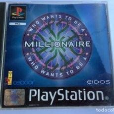 Videojuegos y Consolas: JUEGO WHO WANTS TO BE A MILLIONAIRE - QUIERO SER MILLONARIO - PS1- PLAYSTATION 1 - PSX. Lote 135362810