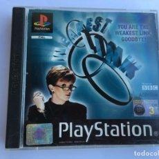 Videojuegos y Consolas: JUEGO THE WEAKEST LINK - PS1- PLAYSTATION 1 - PSX. Lote 135363790