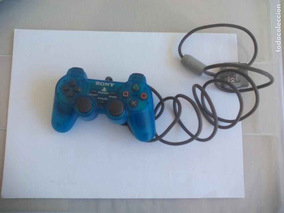 MANDO CONTROLADOR DUALSHOCK AZUL TRANSPARENTE SCPH - 1200 PARA CONSOLA SONY PLAYSTATION PS1 (Juguetes - Videojuegos y Consolas - Sony - PS1)