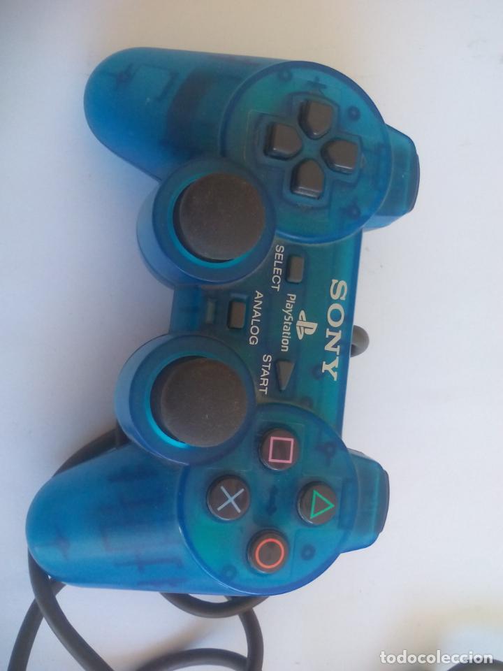 Videojuegos y Consolas: MANDO CONTROLADOR DualShock Azul Transparente SCPH - 1200 PARA CONSOLA SONY PLAYSTATION PS1 - Foto 3 - 150316046