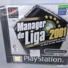 Videogiochi e Consoli: MANAGER DE LA LIGA 2001 PLAYSTATION PS1 NUEVO A ESTRENAR PLASTIFICADO NEW SEALED. Lote 284380993