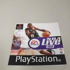 Videojuegos y Consolas: 1018- MANUAL NBA LIVE 99 PLAYSTATION 1 PAL EN ESPAÑOL 28 PAG. Lote 137735598
