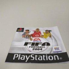 Videojuegos y Consolas: 1018- MANUAL FIFA 2004 PLAYSTATION PAL EN ESPAÑOL 32 PAG . Lote 137738258