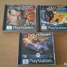 Videojuegos y Consolas: 3 JUEGOS JAMES BOND 007 EL MUNDO NUNCA ES SUFICIENTE EL MAÑANA NUNCA RACING PLAYSTATION PAL ESPAÑA. Lote 32428009