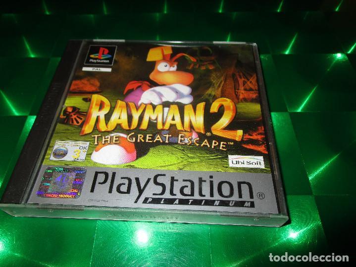 Videojuegos y Consolas: RAYMAN 2 (THE GREAT ESCAPE ) - PSX - SLES 02906 - UBISOFT - PAL - EDICION NO ESPAÑOLA - Foto 2 - 142999326
