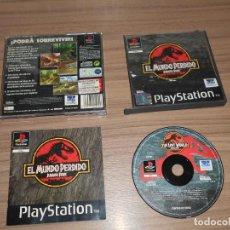 Videojuegos y Consolas: EL MUNDO PERDIDO JURASSIC PARK JUEGO PLAYSTATION PAL ESPAÑA. Lote 143080082