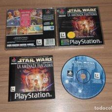 Videojuegos y Consolas: STAR WARS EPISODIO I LA AMENAZA FANTASMA COMPLETO PLAYSTATION PAL ESPAÑA. Lote 143081882