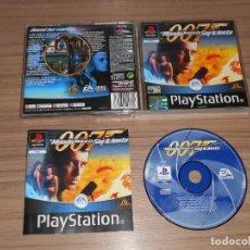 Videojuegos y Consolas: 007 EL MUNDO NUNCA ES SUFICIENTE COMPLETO PLAYSTATION PAL ESPAÑA. Lote 143083590