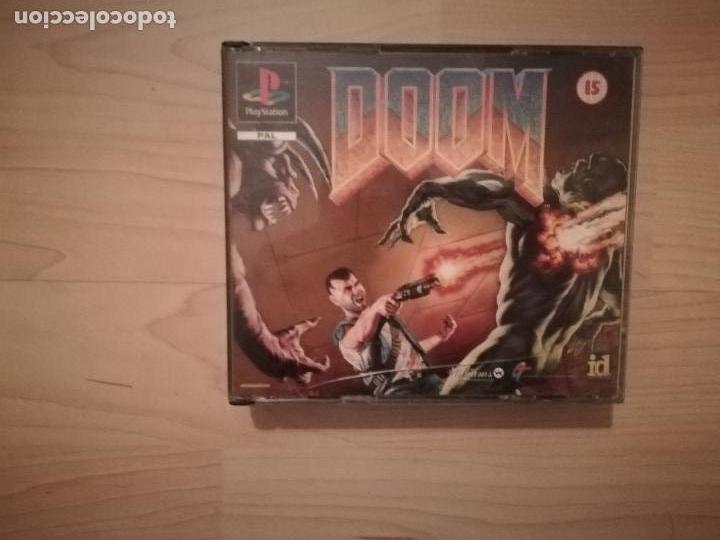DOOM + DISRUPTOR CAJA DOBLE PS1-PSX (Juguetes - Videojuegos y Consolas - Sony - PS1)