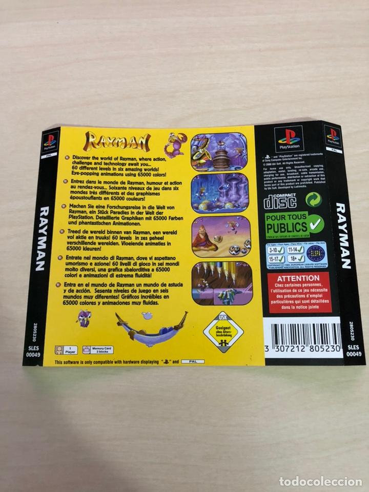 CONTRAPORTADA RAYMAN PS1 PSX (Juguetes - Videojuegos y Consolas - Sony - PS1)