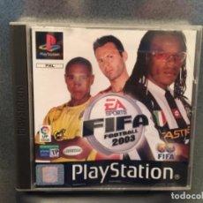 Videojuegos y Consolas: JUEGO FIFA 2003 PLAYSTATION PRIMERA VERSIÓN. Lote 148045634