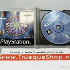 Videojuegos y Consolas: QUIERE SER MILLONARIO - 50X15 - PS1 - CASTELLANO. Lote 151902258