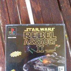 Videojuegos y Consolas: STARS WARS REBEL ASSAULT 2 DE PLAY1,EDICIÓN EN CASTELLANO. A FALTA DE MANUAL.. Lote 151902328