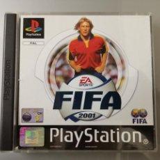 Videojuegos y Consolas: JUEGO PS1 PLAYSTATION 1 FIFA 2001 JUEGO+MANUAL COMPLETO PAL. Lote 152590184