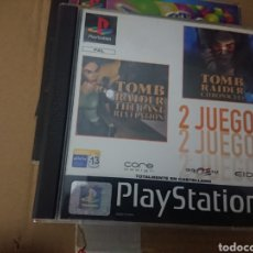 Videojuegos y Consolas: 2 JUEGOS TOMB RAIDER THE LAST REVELATION Y CHRONICLES PLAY STATION PSX PS1 EN ESPAÑOL. Lote 152596346
