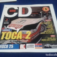 Videojuegos y Consolas: PLAYSTATION DISCO 25 ( TOCA 2 ) 1998 EURO DEMO 40 ( 9 DEMOS JUGABLES + VIDEOS ). Lote 153715306