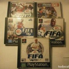 Videojuegos y Consolas: LOTE DE 5 JUEGOS PS1 QUE CONSISTE EN: PREMIER 98 PREMIER STARS FIFA 99 FIFA 2000 FIFA 2001. Lote 155569962