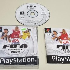 Videojuegos y Consolas: J- FIFA FOOTBALL 2004 PLAYSTATION 1 PAL VERSION ESPAÑOLA . Lote 155039214