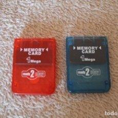 Videojuegos y Consolas: LOTE 2 MEMORY CARD 1 MEGA READY 2 PLAY. Lote 156619146