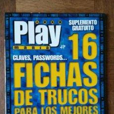 Videojuegos y Consolas: PLAY PSX FICHAS CARATULAS TRUCOS: TOMB RAIDER, NIGHTMARE CREATURES, DINO CRISIS, PARASITE EVE, FF IX. Lote 158503182