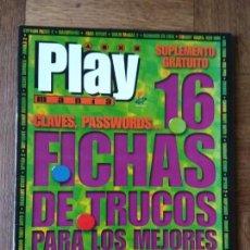 Videojuegos y Consolas: PLAY PSX FICHAS CARATULAS TRUCOS: FEAR EFFECT, EHRGEIZ, VAGRANT STORY, SILENT BOMBER, GTA 2, SPYRO... Lote 158507034
