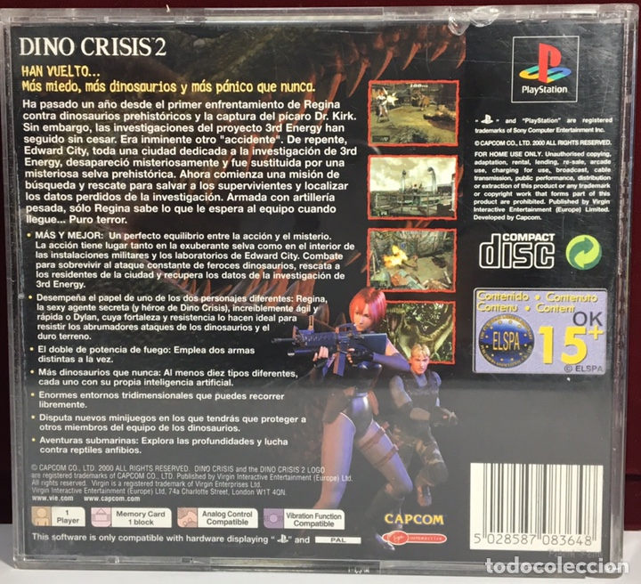 Playstation dino crisis 2 - Sold through Direct Sale - 161400358