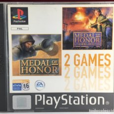 Videojuegos y Consolas: PLAYSTATION MEDAL OF HONOR / MEDAL OF HONOR UNDERGROUNDN. Lote 161659458
