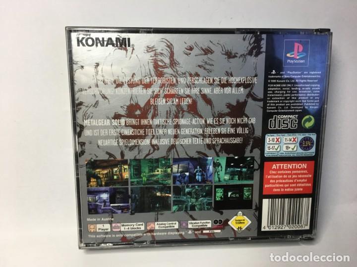 Videojuegos y Consolas: JUEGO METAL GEAR SOLID - PS1 PLAYSTATION 1 - Foto 2 - 161919774