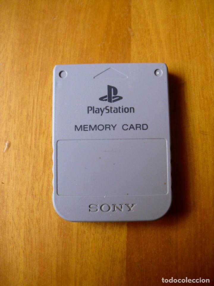 TARJETA DE MEMORIA PARA PLAYSTATION 1 ORIGINAL (Juguetes - Videojuegos y Consolas - Sony - PS1)