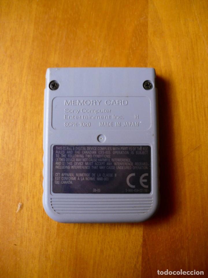 Videojuegos y Consolas: Tarjeta de Memoria para Playstation 1 Original - Foto 2 - 194327245