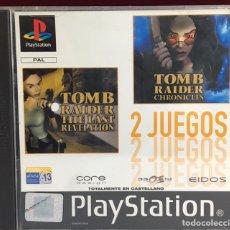 Videojuegos y Consolas: PLAYSTATION TOMB RAIDER 2 JUEGOS. Lote 163056125