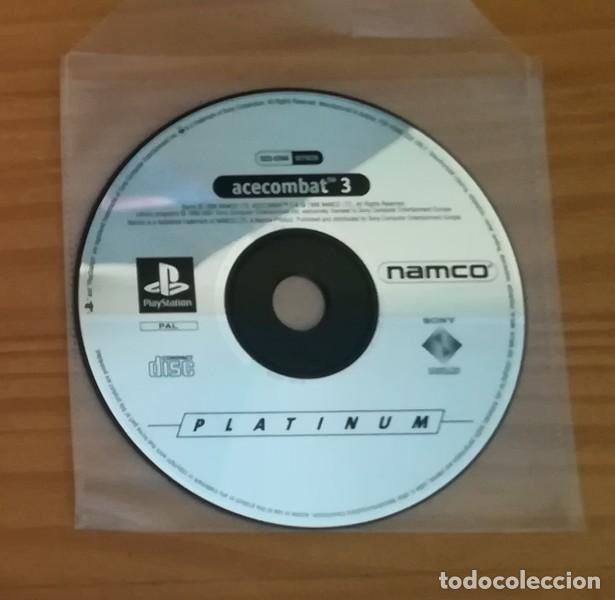 ACECOMBAT 3, JUEGO PLAYSTATION 1 PAL. NAMCO PS1 PSX PLAY STATION. SOLO DISCO ACE COMBAT PLATINUM (Juguetes - Videojuegos y Consolas - Sony - PS1)