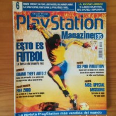 Videojuegos y Consolas: PLAYSTATION MAGAZINE 35, NOVIEMBRE 1999. GRAND THEFT AUTO 2, FIFA 2000, ISS PRO EVOLUTION.... Lote 164884982